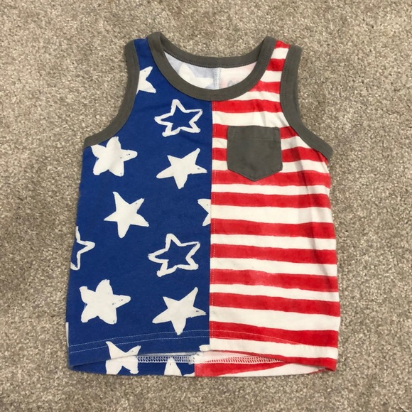 Cat and Jack American Flag 4th of July shirt